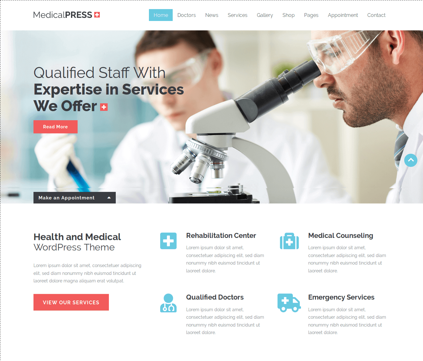 Medical Press WordPress Theme