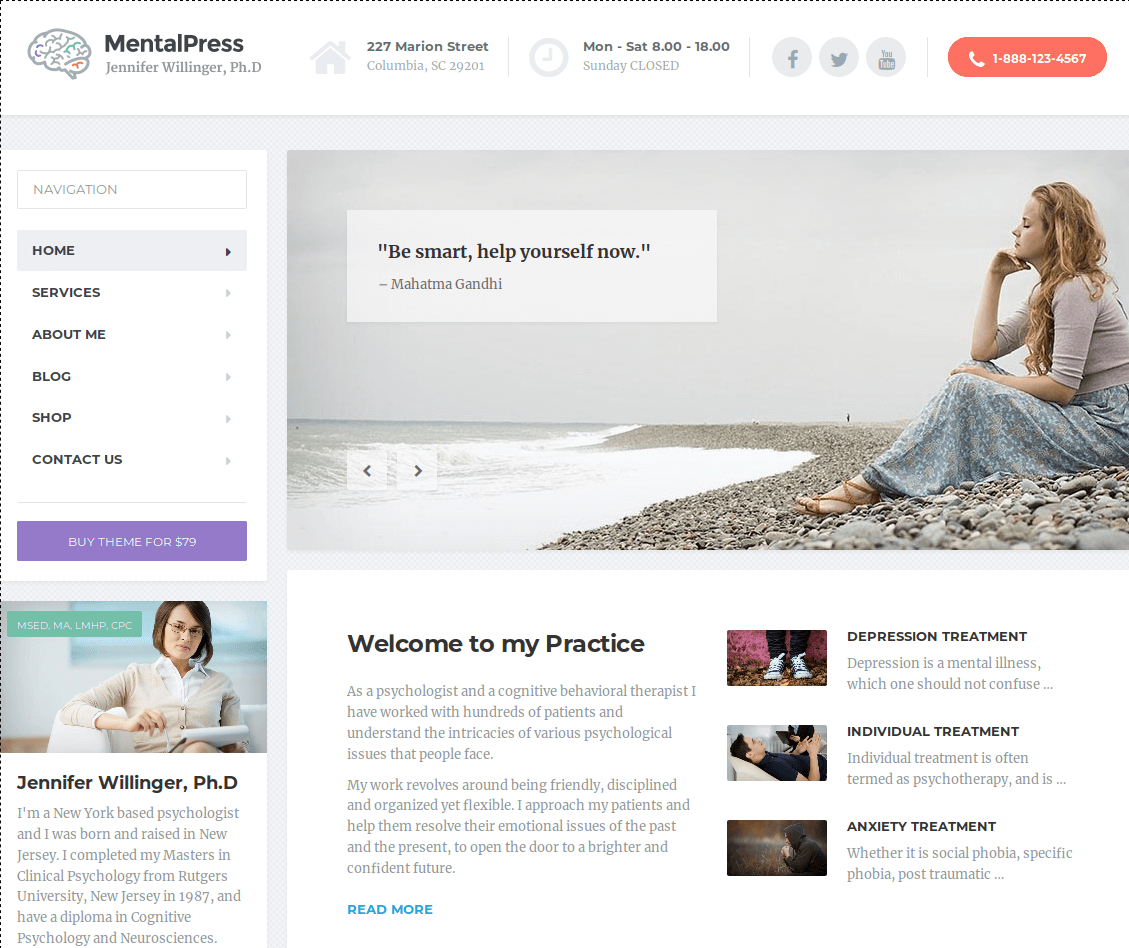 MentalPress WordPress Theme