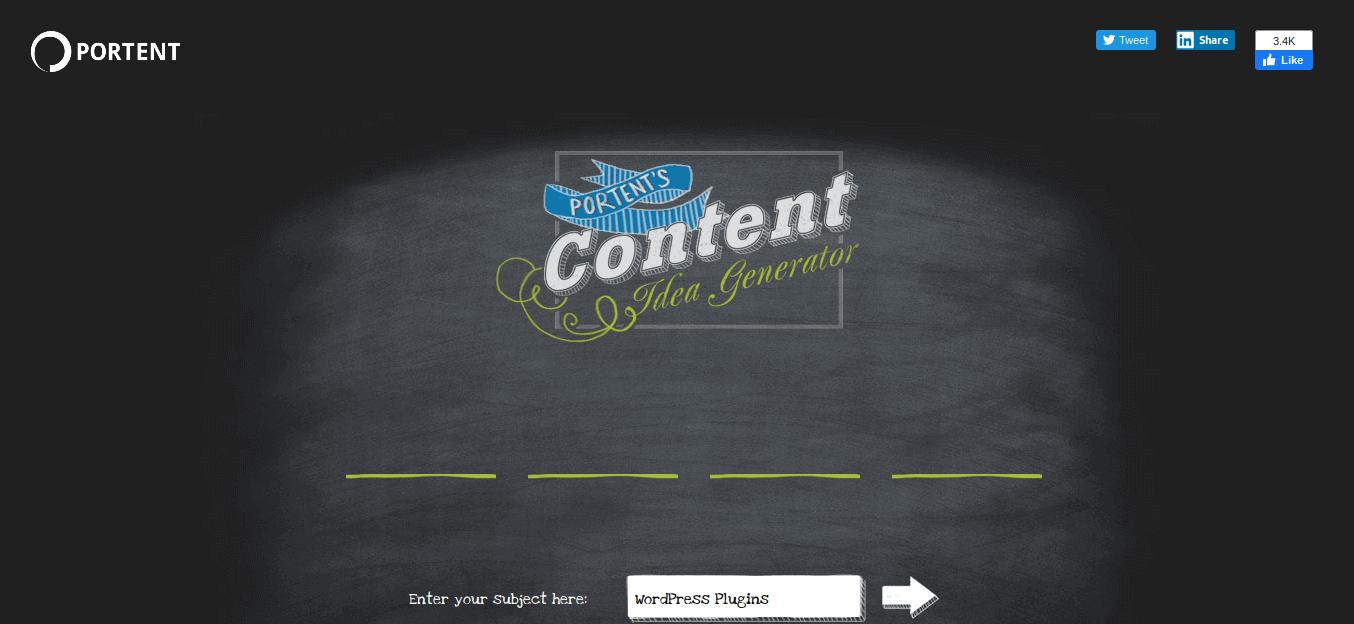 Portent s Content Idea Generator