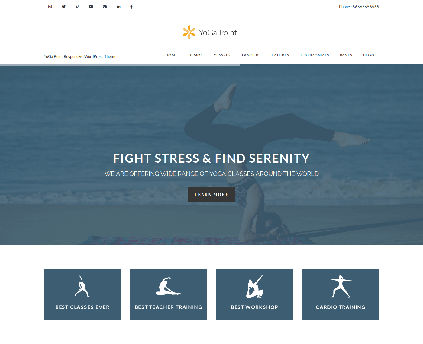 YogaPoint WordPress Theme