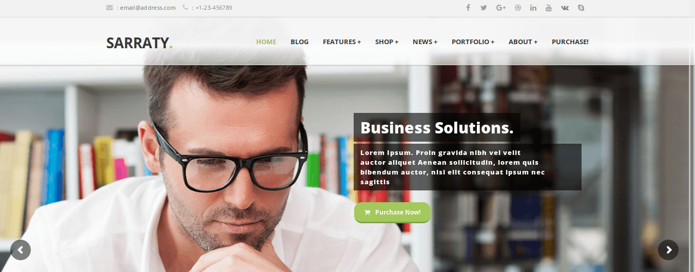 Sarraty WordPress Theme