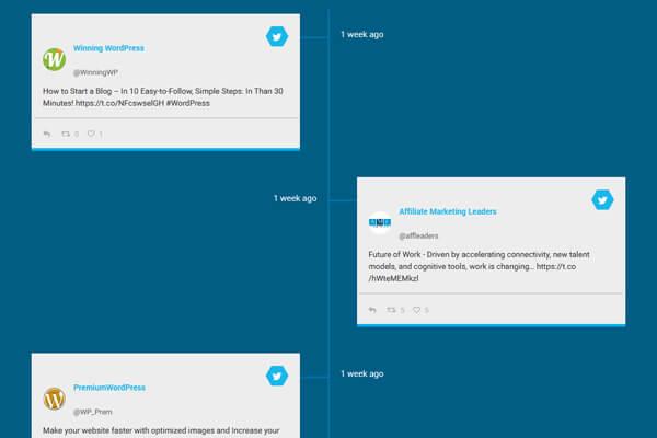 Social Stream Designer - Timeline layout