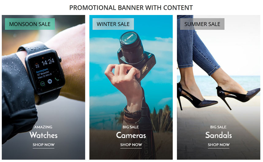 Promotional Banner With Content