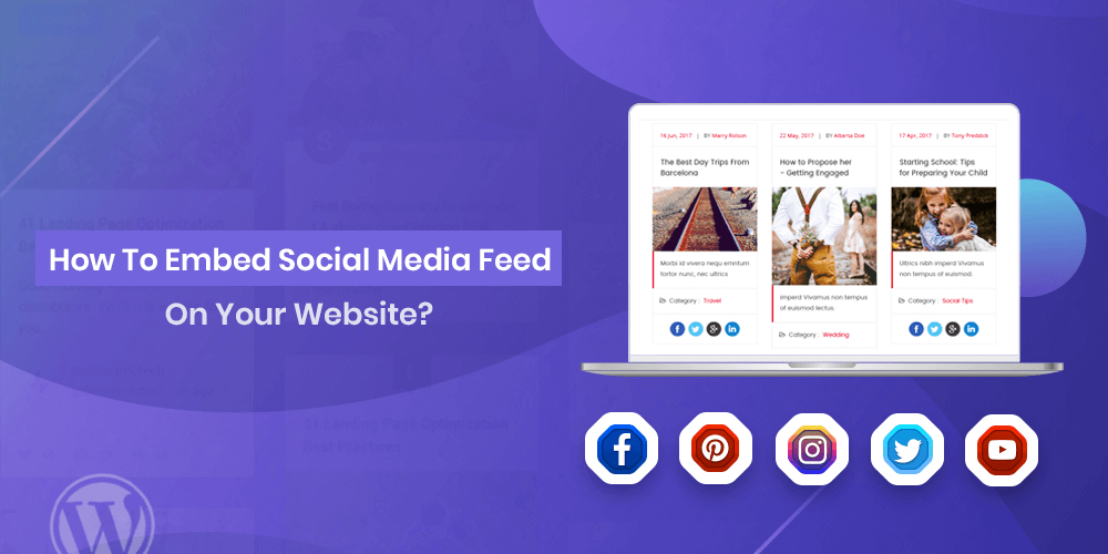 embed social media feeds on website