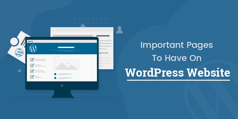 important pages for WordPress website