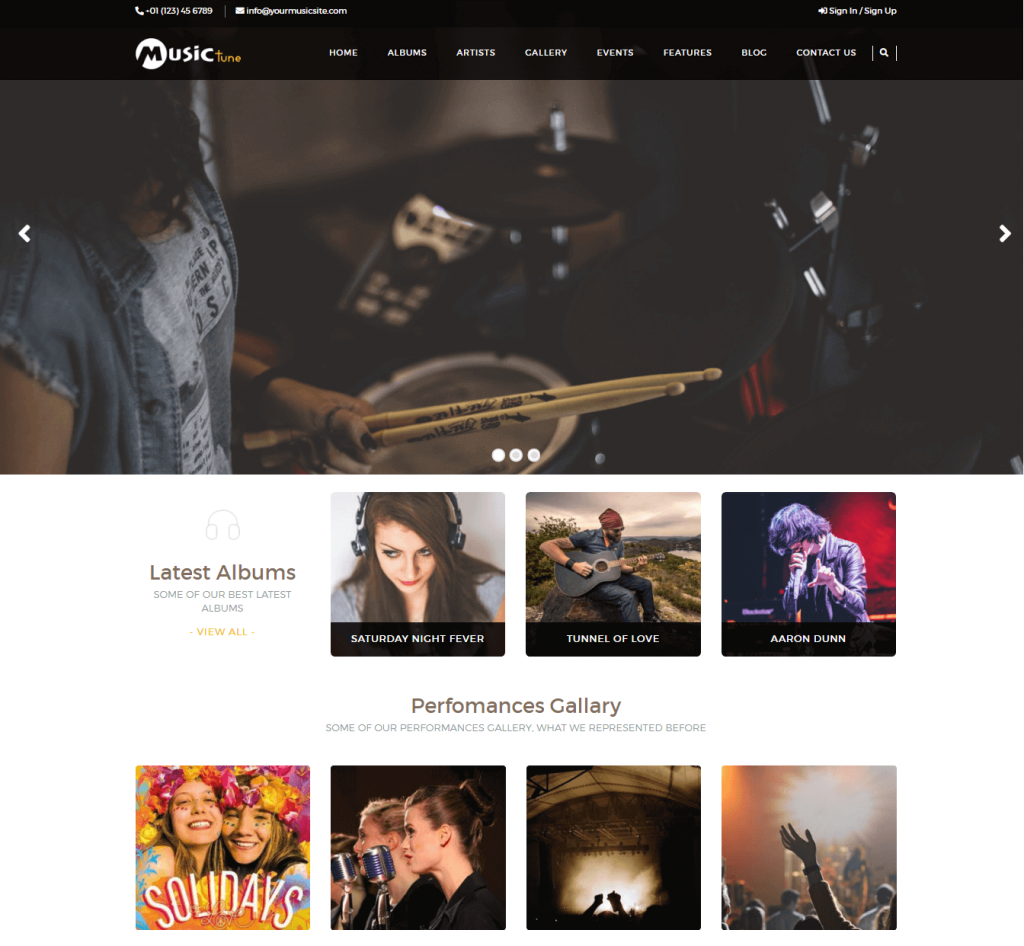 Music Tune WordPress Theme