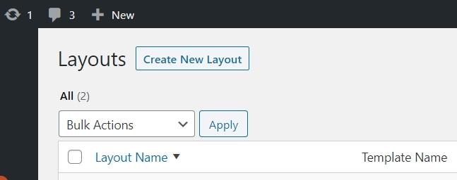 Create new layout